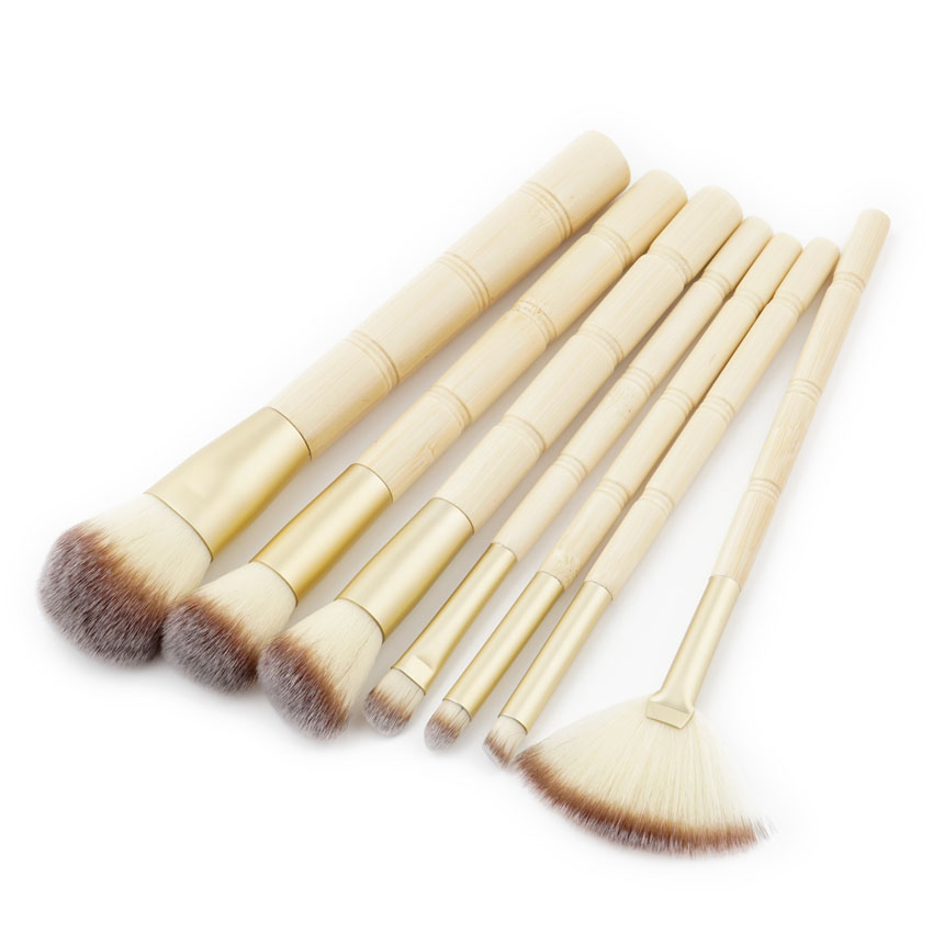 New style upscale cosmetic tools 7pcs bamboo joint makeup brushes
