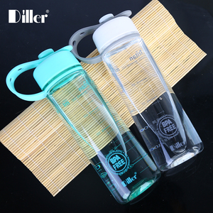 Factory prices customizable design wholesale wide mouth tritan bpa free clear drink drinking plastic water bottle with handle