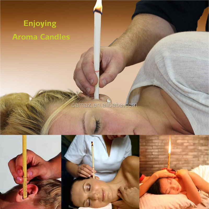 natural Ear candle with Ear Protector Disc for reduced ringing in ears
