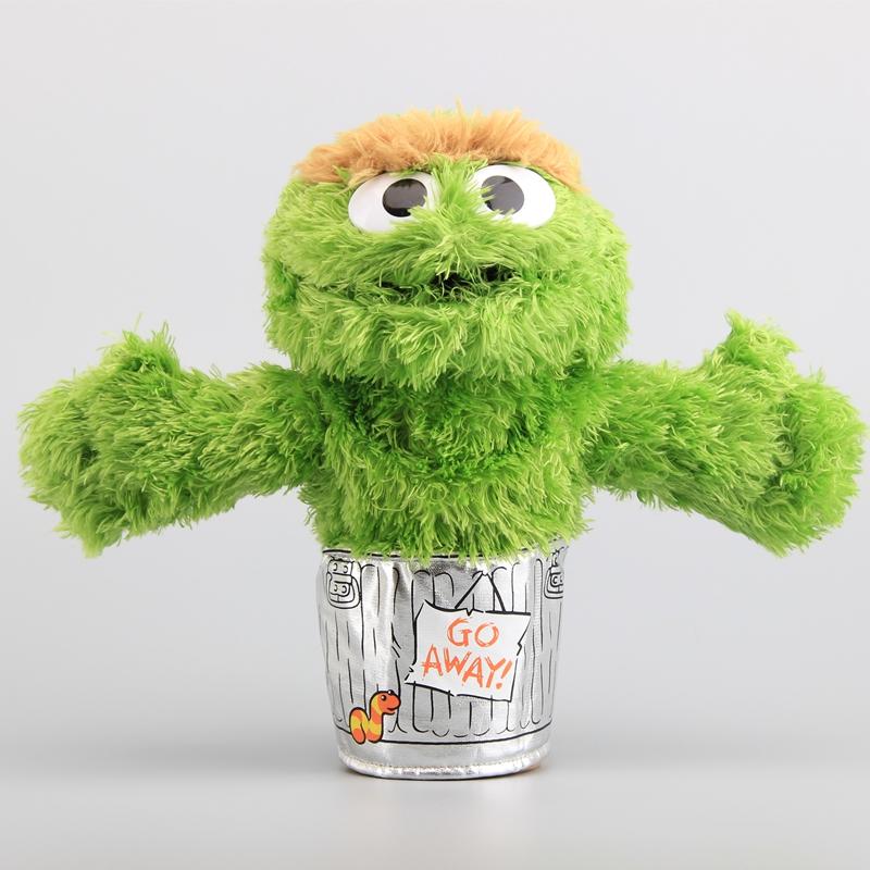 cd64ed68ced5e1 NEW Sesame Street Oscar the Grouch Plush Hand Puppet Soft Stuffed Dolls 9