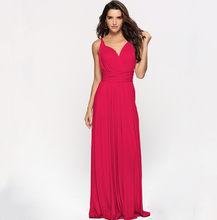 Женское длинное платье, длинное плиссированное платье в пол, для свадебной вечеринки(China)