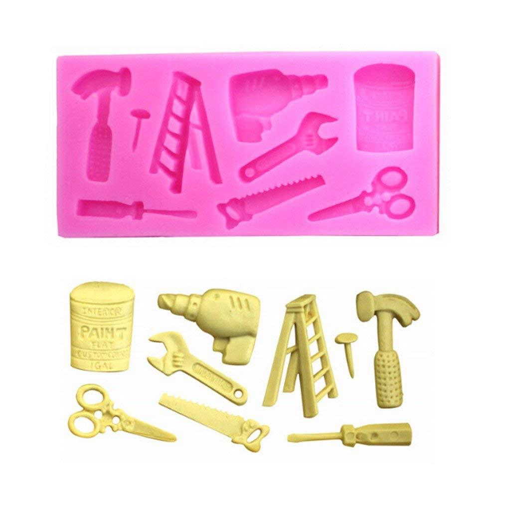 Edtoy Pink Hardware Tools Fondant Silicone Mold Baking Tool