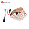 ws2812b led strip 1m 60leds/m White pcb Non Waterproof IP30 individually