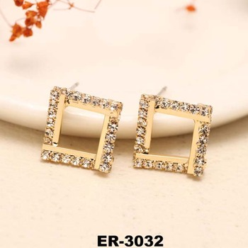 Korea Imported Czech Diamond Earring Beautiful Designs For Women