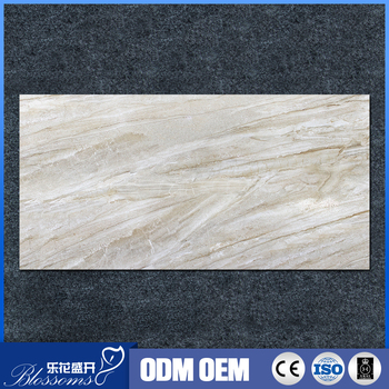 Warm Color Glazed Ceramic Thin Tile Imported Marble Look Non Slip