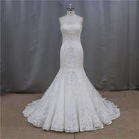 crystal beaded strapless white wedding dress bridal gowns