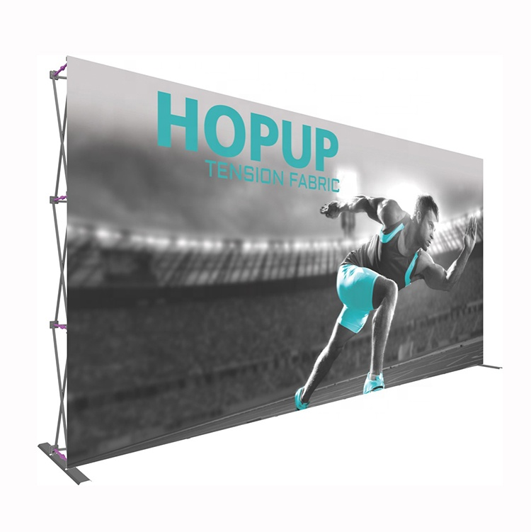 Outdoor Backlit Stof 3*3 3*4 Reclame Pop Up Backlit Stof Display Stand Systeem