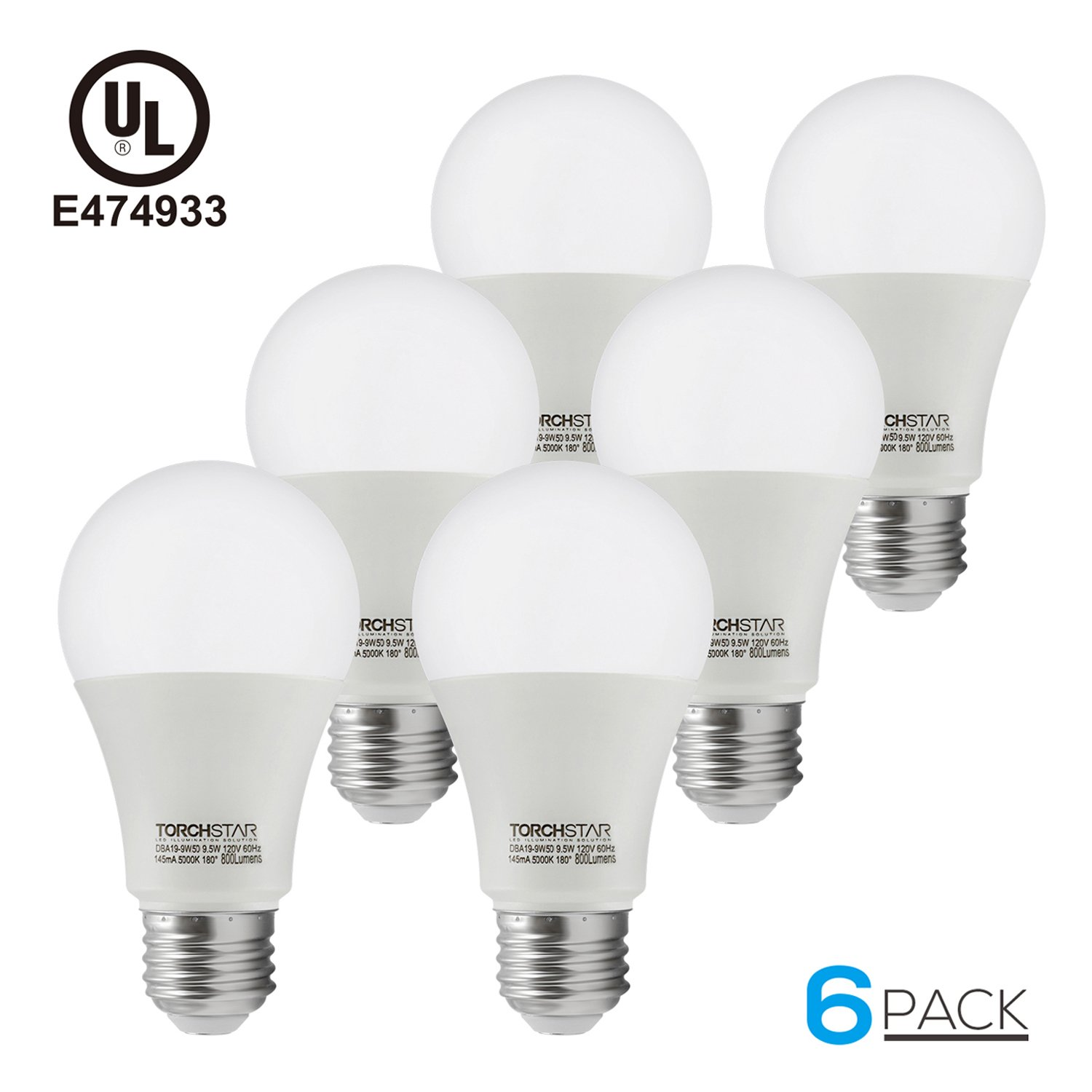 Luceo 5W 2700K Warm White Dimmable GU10 LED Lamp Spot Spotlights Low Energy