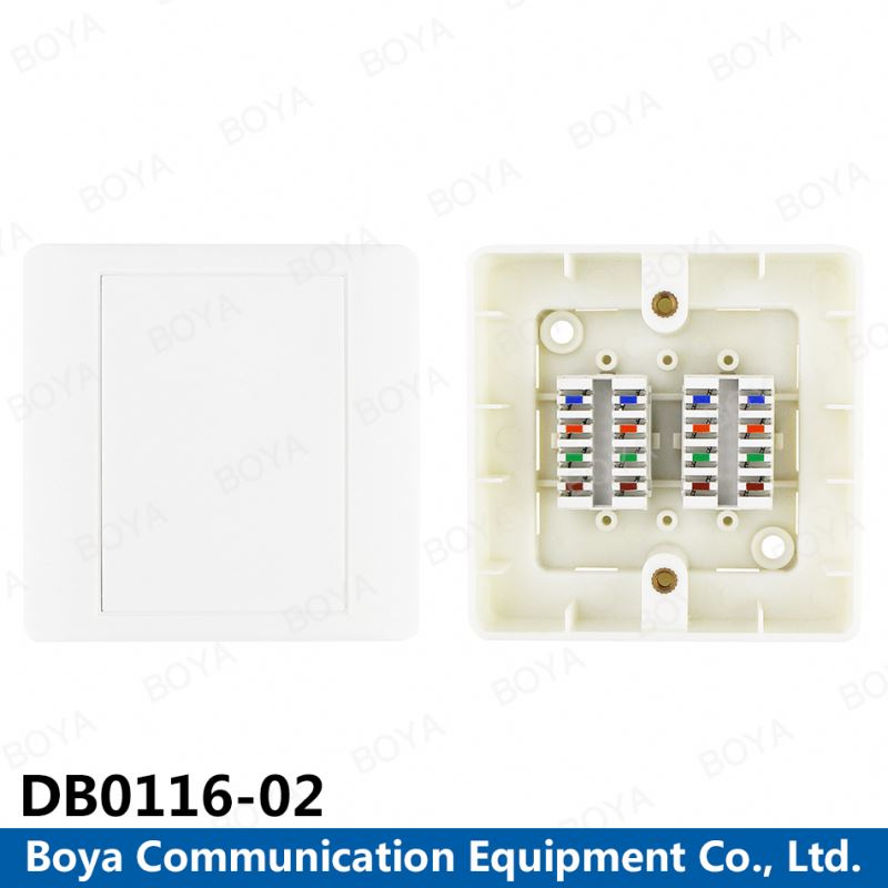 110 IDC Cat5e Connection Box Unshielded with Color Code Label 16 pairs distribution box