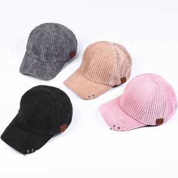 f7b5c8bf80f Women Hat Vintage Corduroy Suede Flat Bill Brim Snapback Cap Hat Wholesale