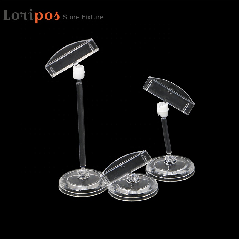 Transparent Plastic Advertising Clips Hotel Table Desk Sign Display Price Label Tag Clip Memo Holders In Supermarket <strong>Retails</strong>