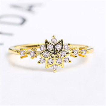 Wholesale  Cute Gold plated Snowflake Napkin Wedding Christmas Gift Ring