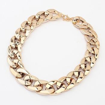 a0d168b44d3e 2016 de moda simple diseño de modelo CCB grueso collar de cadena 14 K  cadenas de