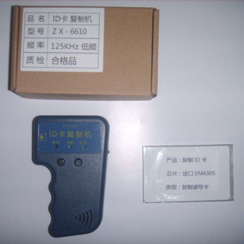 Ручной портативный 125 кГц RFID дубликатор копир копия писатель , пригодный для EM4100 EM4305 карты тег бесплатная доставка