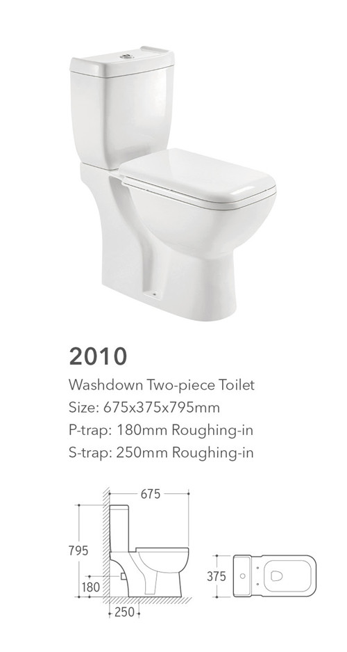 gravity flushing system western sitting wc washdown 2 piece toilet for kid