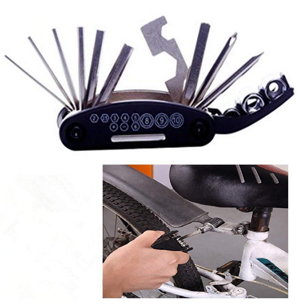 DEEP TOUCH Bike Multifunction Tools- 16 in 1 Bike Repair Tool Kits Mechanic Tool Kit New