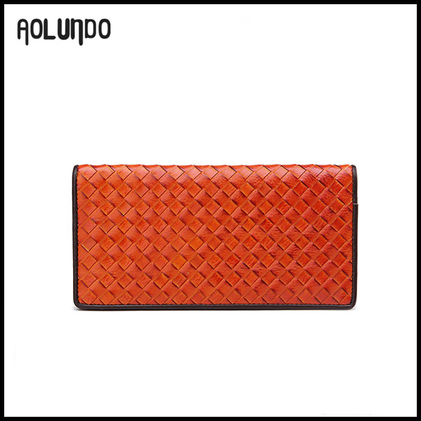 Low MOQ colorful leather wallet and purse for ladies and men wholesale
