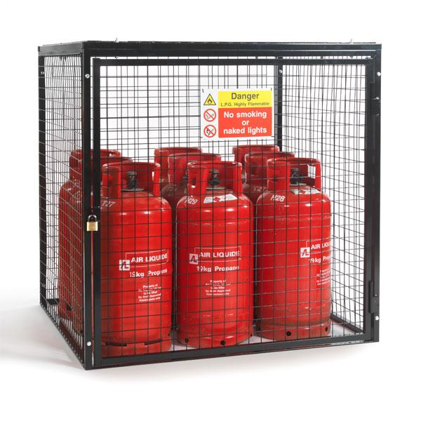 Gas Bottle Collapsible Cylinder Bottle Storage Galvanised Steel Cage Lockable UK