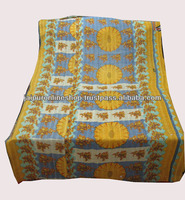 HAND QUILTED VINTAGE KANTHA SARI QUILTS