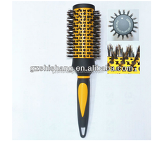 salon factory manufacturer round metal bristle hair brush for salon