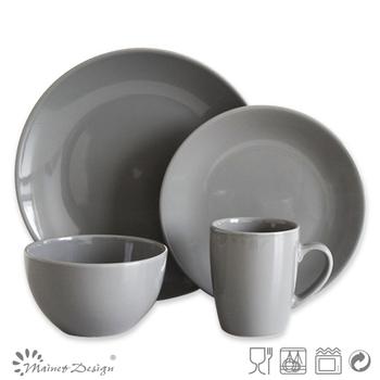 Dark Grey Ceramic Crockery Dinnerware Set/solid color dinner set  sc 1 st  Alibaba & Dark Grey Ceramic Crockery Dinnerware Set/solid Color Dinner Set ...