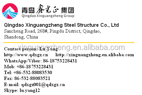 Steel structure warehouse and prefabricated house design