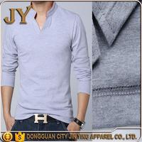 2016 New Fashion Men Clothes Solid Color Long Sleeve Fit T Shirt Men 100% Cotton T-Shirt Spring Jin Ying apparel