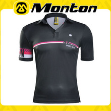 2016 Monton New Design men and women Polo shirt Black color for Cycling T-shirt