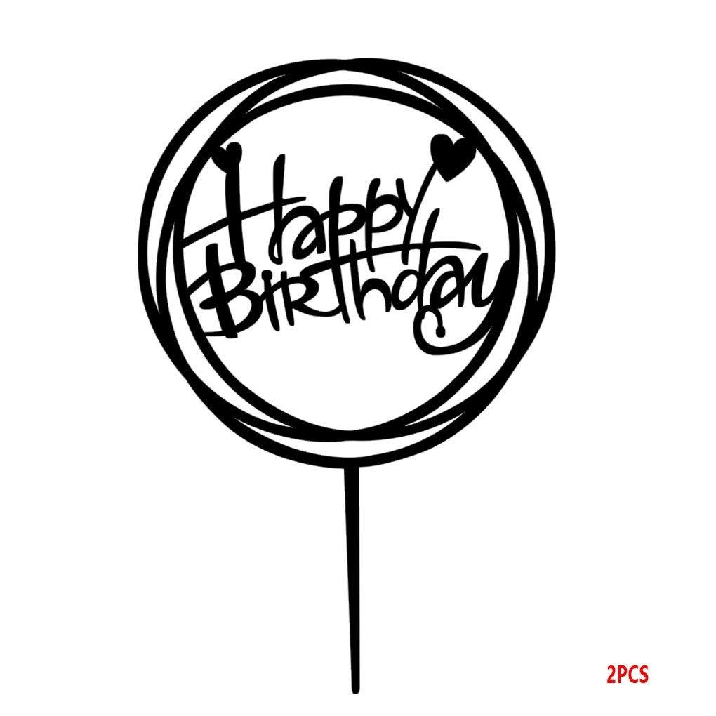 cheap happy birthday cake topper find happy birthday cake topper 100th Birthday Graphics get quotations harmily round happy birthday cake topper acrylic diy cupcake cake smash candle alternative party handmade stick