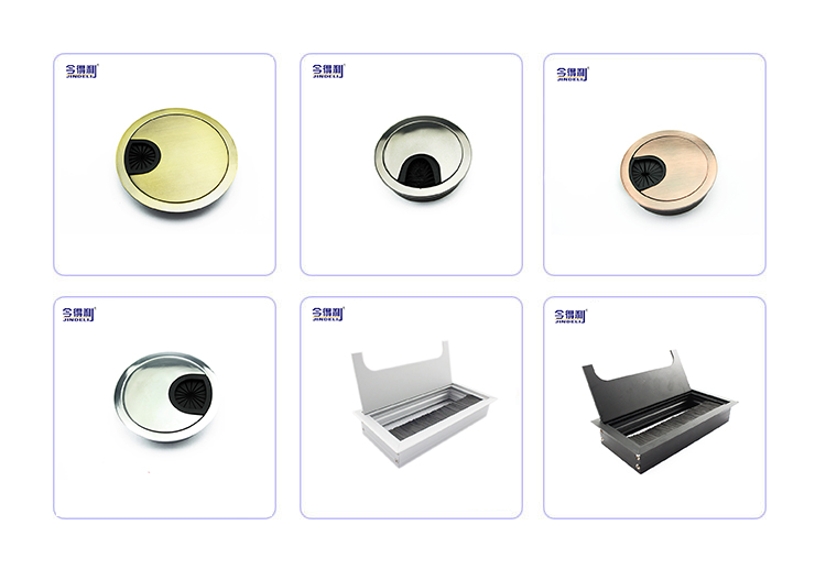 Furniture Hardware Zinc Alloy Table Cable Outlet Grommet For Computer