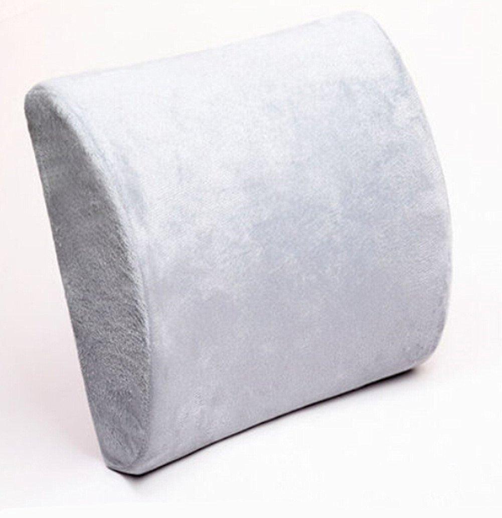 Moyishi Gray Memory Foam Seat Chair Lumbar Cushion Pillow Back Support Pad For Car Sedan Office Home