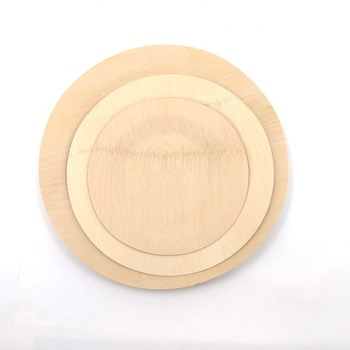 5/7/9/11Inch Wholesale Disposable Round Bamboo Fiber Plate