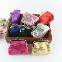 Women's Sequins Coin Purse Bling-Bling Clutch Glittery Handy Buckle Mini Wallet 6B17