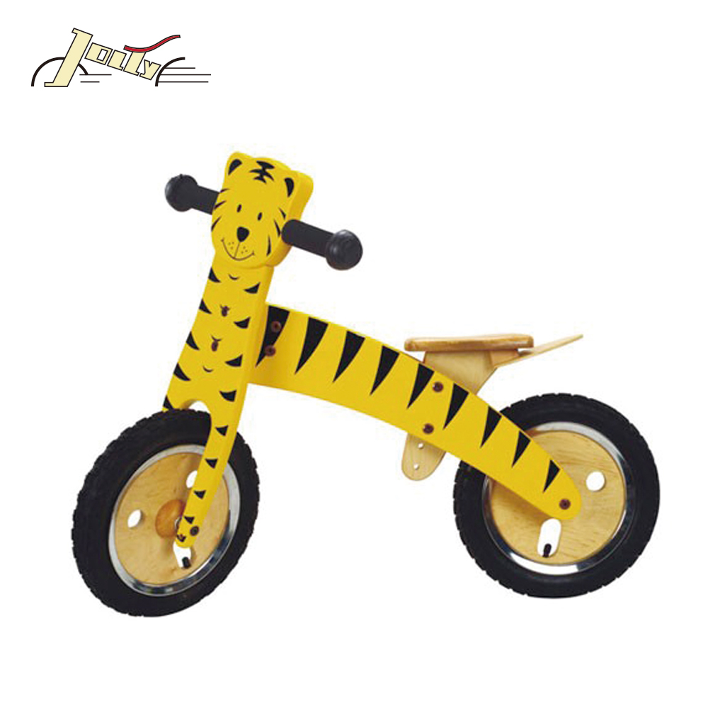 "Wholesale Tiger type 12"" Wooden Balance Kids bike as Children toy Bicycles JB009"
