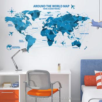 Nuevo diseo mapa del mundo etiqueta de la pared decoracin nuevo diseo mapa del mundo etiqueta de la pared decoracin pegatinas gumiabroncs Image collections