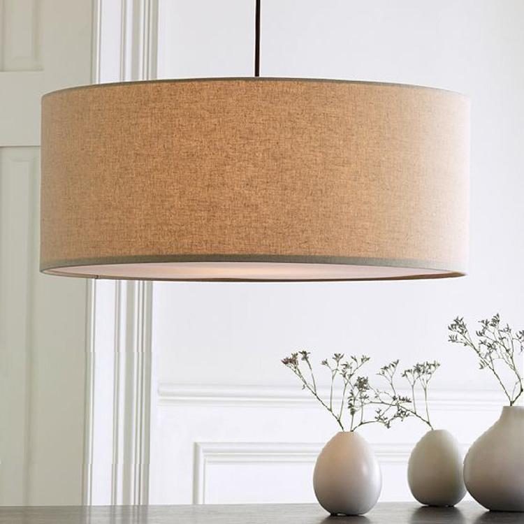 Dining Room Lighting Ikea: Nordic IKEA North Eurasia Linen Circular Chandelier With