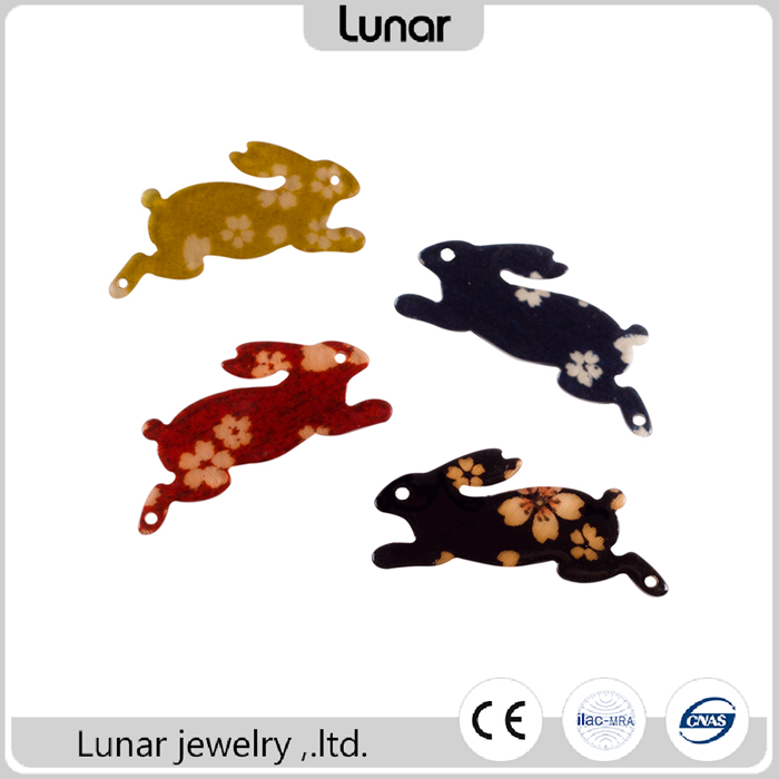 LOW MOQ fashion Laser CNC cut acrylic pieces with kimono fabric for DIY hair jewelry accessories parts