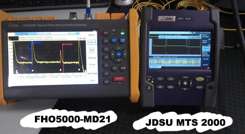 [Grandway Original] FHO5000 D45 de modo único OTDR 1310/1550nm 45/43dB 195 km incorporado medidor de potencia ¡VFL de pantalla táctil iOLM