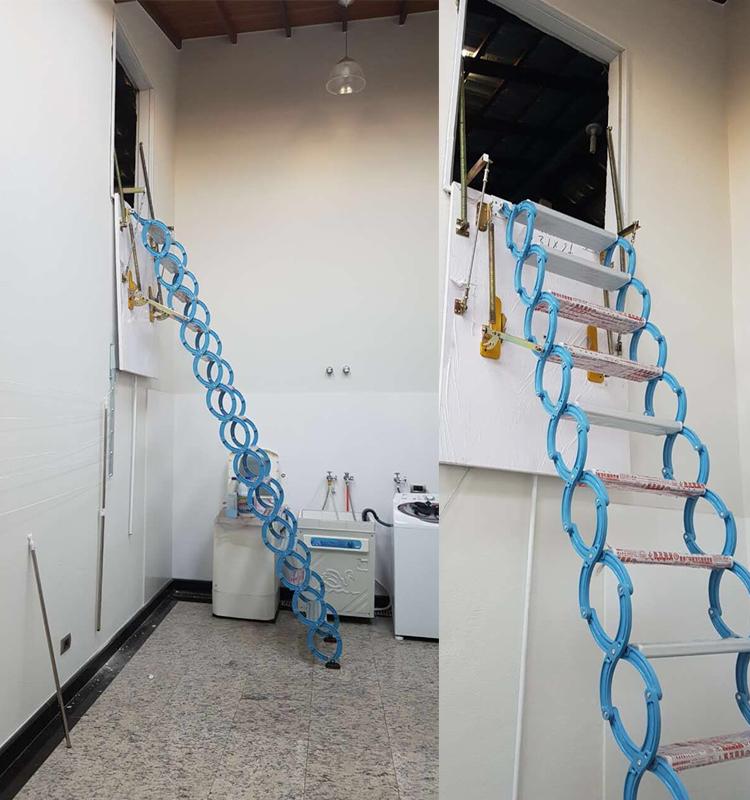 Intrekbare Telescopische Loft Ladder Op Verticale
