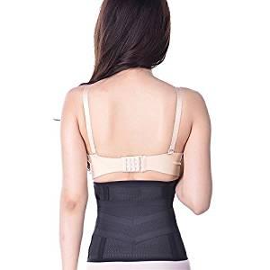Goege Tummy Trimmer Slimmmer Belt-Soft Postpartum Girdle Post Pregnacy Belly Wrap exercise waist support Belt Adjustable Abdominal Binder Compression Trainer For Women