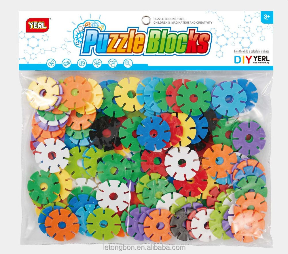 DIY puzzle assembly blocks Varity Snowflake Puzzle Blocks