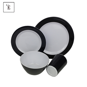Luxury Dinner Ser Superior Quality Unbreakable Wholesale Plastic Serving Bowls Reusable Melamine Dinnerware Set