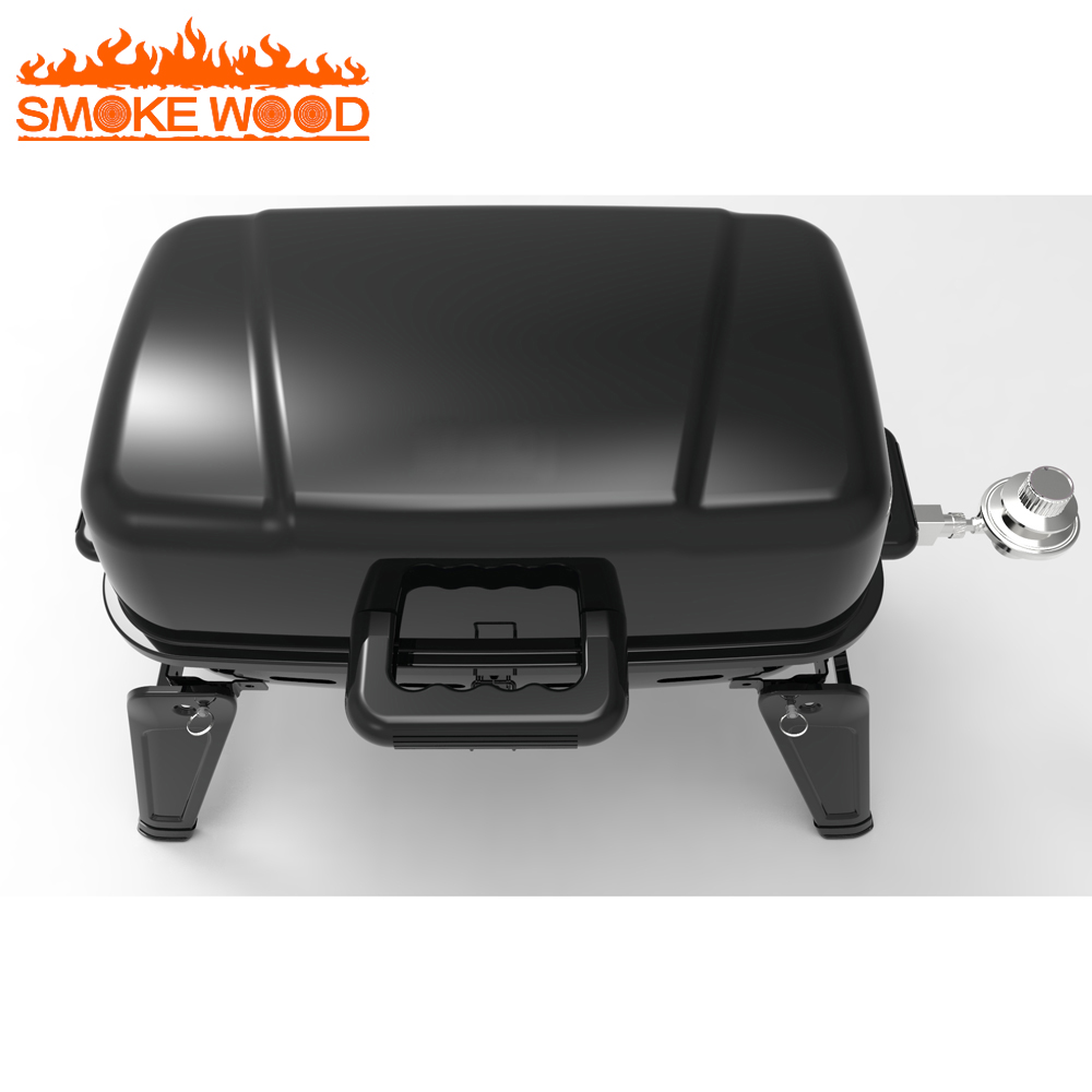 Professional Mini Portable Foldable Tabletop Propane used Gas Bbq Kebab Grill Outdoor Gas Grill With Oven for sale