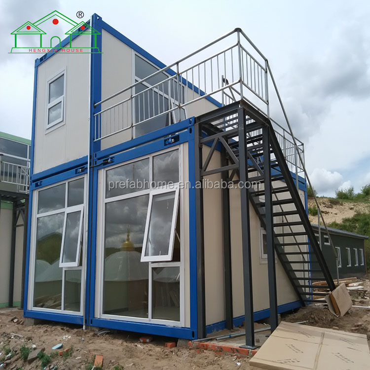 20ft 40 ft big two floors living container thailand homes for worker