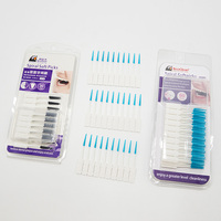 Dental Floss Interdental Brush Teeth Stick Soft Silicone Toothpicks (60pcs/30pcs Pack)