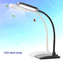 Fashionable design flexible led table lamp touch 3-level brightness control wireless portable luminaire led study table lamp