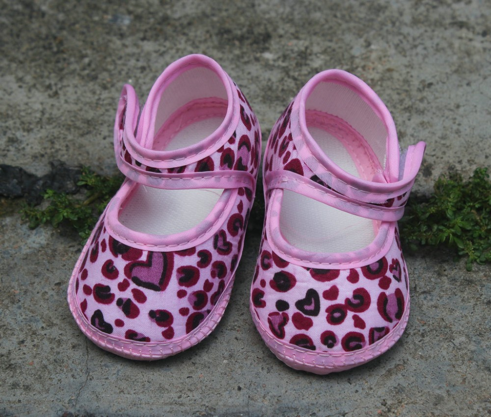 pink leopard grain new Baby Shoes Baby girls Toddler Shoes Fashion baby shoes cotton toddler red