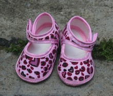 pink leopard grain new Baby Shoes Baby girls Toddler Shoes Fashion baby shoes cotton