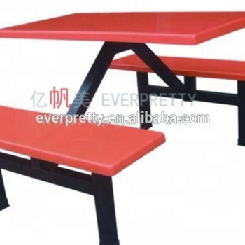 Malaysia Fiber Glass Top Metal Dining Table Set For Military Canteen