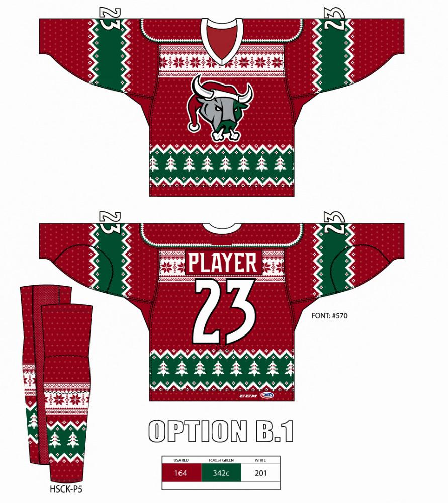 Christmas Jersey Design.Hockey Jersey And Socks